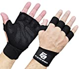 New Ventilated Weight Lifting Workout Gloves with Built-in Wrist Wraps for Men and Women - Great for...