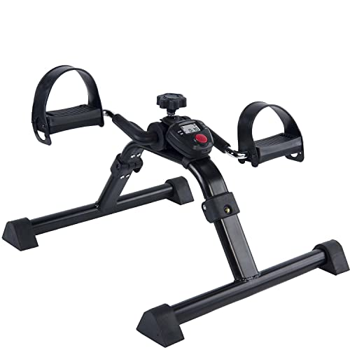 Vaunn Medical Under Desk Bike Pedal Exerciser with Electronic Display for Legs and Arms Workout...