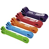 SUNPOW Pull Up Assistance Bands - Set of 5 Resistance Heavy Duty Workout Exercise Crossfit Stretch...