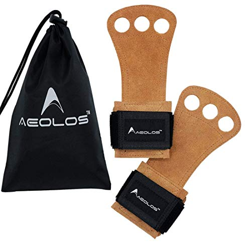 AEOLOS Leather Gymnastics Hand Grips-Great for Gymnastics,Pull up,Weight Lifting,Kettlebells and...