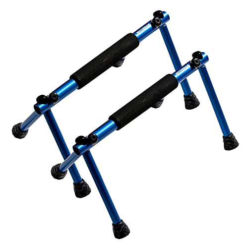 Withgear Folding Push Up Bar - Portable and Lightweight Sturdy Duralumin Metal Push Up Bars and...
