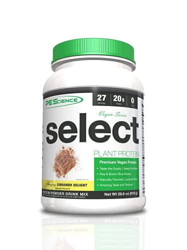 PEScience Select Vegan Plant Based Protein Powder, Cinnamon Delight, 27 Serving, Pea and Brown Rice...