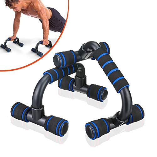 SGODDE Push Up Bars Pushup Handle with Cushioned Foam Grip and Non-Slip Sturdy Structure Portable...