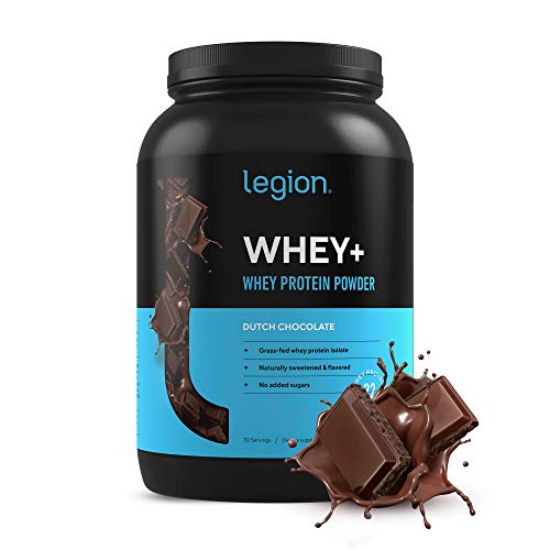 Legion Whey+ Chocolate Whey Isolate Protein Powder from Grass Fed Cows - Low Carb, Low Calorie,...