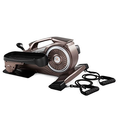Bionic Body Magnetic Tension Under-Desk Elliptical Mini Stepper Trainer with Resistance Tubes...