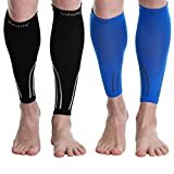 Udaily Calf Compression Sleeves for Men & Women (20-30mmhg) - Calf Support Leg Compression Socks for...