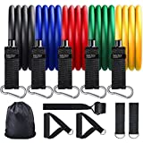 Renoj Resistance Bands for Exercise and Workout 11 Set with Handles 150LBS