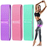 FITFORT Resistance Bands for Legs and Butt Exercise Bands - Non Slip Elastic Booty Bands, 3 Levels...