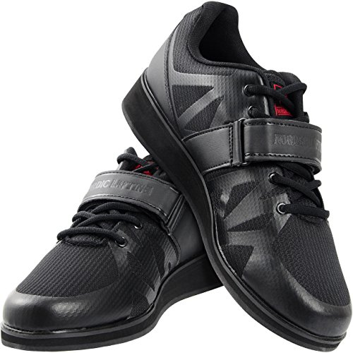 Nordic Lifting Powerlifting Shoes for Heavy Weightlifting - Men's Squat Shoe - MEGIN (Black, 12 US)