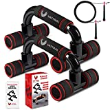 VATTRAL Push Up Bars – Premium Push Up Bars for Men - Strength Training Pushup Stands with...