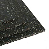 tonchean Eco-Sport Interlocking Tiles, Heavy Duty 25 mm Thick Rubber Exercise Equipment Mats,...
