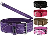 MRX Powerlifting Leather Belt 4' Wide 10mm Thickness Training Fitness Back Support Bodybuilding...