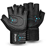 Updated 2021 Ventilated Weight Lifting Gym Workout Gloves Full Finger with Wrist Wrap Support for...