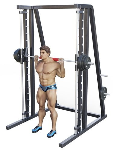 how to use the squat rack